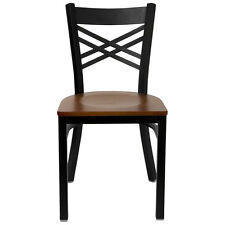 Double-X Metal Chair wood seat