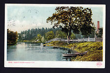 1906-12 boat on bank Nashua River New Hampshire postcard