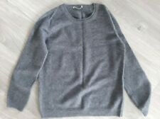 Women's Whistles Grey Jumper Top Size 14 100% Cashmere