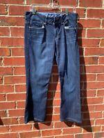Gap Womens Jeans Size 30L - 10 Large Perfect Boot Blue Denim Dark Wash Jeans