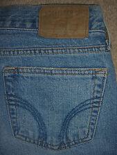 HOLLISTER Flare Button Fly 100% Cotton Light Blue Denim Jeans Womens Size 5 x 31