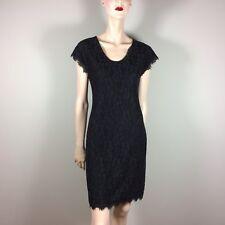 DIANE von FURSTENBERG Damen Kleid S 36 Schwarz Spitze DvF Glamour Style Luxus