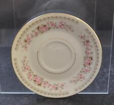 "Vintage Fine China French Garland Pink Floral Flower Saucer Japan About 6"" R16"