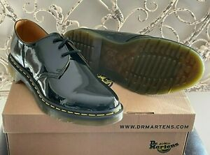 DR. MARTENS | Women's 11 US (9 UK) Black Patent Lamper Core 1461 3-Eye Shoes