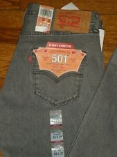 NWT LEVI'S 501 BUTTON FLY GREY JEANS SZ: 34 X 38