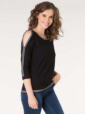 -10% Pullover sexy Pulli von Yest Gr. 38 40 44 schwarz weiß Viscose 3/4 Ärmel