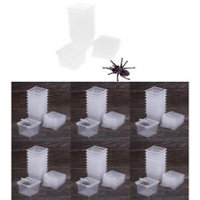60x Feeding Box Insect Reptile Transport Breeding Cage Hatching Container