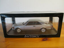 (Gor) 1:18 Autoart Mercedes Benz 500 Seconds Coupe 1986 Silver New Original Box