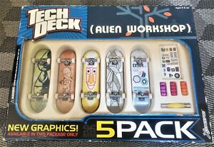 NEW Tech Deck Alien Workshop Skateboard Finger Board - 5 pack