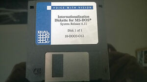 Voice with Vision Dialogic Internationalization Diskette for MS-DOS Release 4.11
