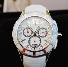 Genuine Pandora Watch Imagine Grand C Silver/White with Ceramic Bezel - 811004WH