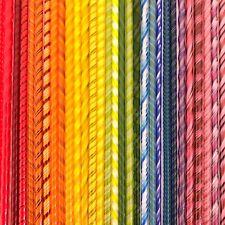 SIX Twisties - Rainbow - One of Each - Fusible COE 90 Bullseye Twisted Glass