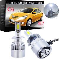 For VW Golf mk5 2003-2008 Low High Beam Xenon H7 LED Headlight Bulb Set Lamp 12V