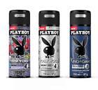 Playboy Hollywood  King  Newyork Deodorant Spray For Men 150ml x 3