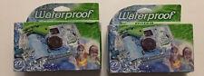 2 pack Disposable Cameras Quick Snap Waterproof Pool Underwater 35 mm FujiFilm