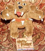 "Harry Potter Fluffy The 3 Headed Dog Plush Gund 7048 Stuffed Toy 2001 5.5"" Toy"