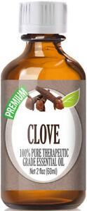 Clove Essential Oil (100% Pure & Natural) Glass Bottle + Euro Dropper