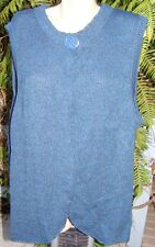 Be Me Wool Mix Sleeveless Vest NEW SIZE L-18/20 Dark Green Loose Fit ONE BUTTON