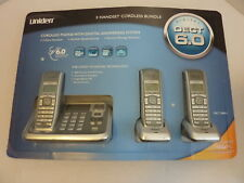 NEW Uniden DECT 2085-3 - 3 Handset Cordless Phone Digital Answering System