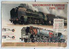 Affiche Originale - Locomotive à Vapeur type 141 P - P. BOUVRY Albert BRENET