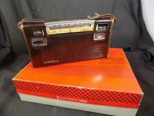 Vntg SEMINOLE 1000 AM/FM SHORTWAVE Portable Radio w/ Leather Case, Orig Pkg