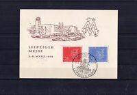 DDR - Postkarte Leipziger Messe 1958 mit Sonderstempel