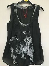 Ladies Summer Sleeveless Blouse/Top in Charcoal/Dark Grey by Esprit.  Size 12