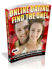 ONLINE DATING.FIND THE ONE! PDF EBOOK FREE SHIPPING RESALE RIGHTS
