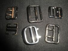 ZA71 Vintage lot of 6 small black metal buckles