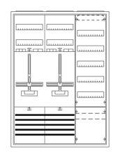 Komplett Zählerschrank STRIEBEL & JOHN KS222z  2 Zähler + Verteiler 5 rhg + APZ