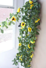 "4x 90"" SunFlower Vines Artificial Flowers Garland Arch Home Wedding Decor"
