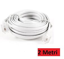 Telephone cable extension telephone cable 2 metre rj11 Connector Plug Modem HSB