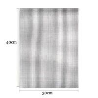 BBQ Grill Mesh Mat Non-Stick Barbecue Sheet Liners Black Grilling Mats 30*40cm