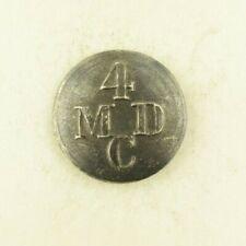 War Of 1812 Era 4 Regiment Mdc Uniform Button ? B23