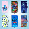 Disney Lilo Stitch Wallet Case Samsung Galaxy S3 4 5 6 7 8 Edge Note Plus 079
