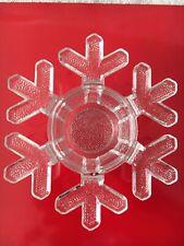Vtg Iiittala Valto Kokko Snow Crystal Glass Candle Holder Votive Finland EUC