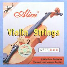 Muta di Corde per VIOLINO 4/4 3/4 1/2 1/4 Alice A703 acciaio inox bronzo bianco
