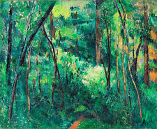 Interior of a Forest by Paul Cezanne A2+ Landscape, Art Print Wall Art