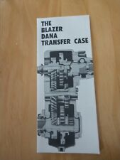 Vintage Chevrolet Blazer Dana Transfer Case  Service Manual July 1969 Jimmy 69