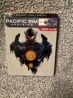 Pacific Rim Uprising Blu-Ray/DVD/Digital Steelbook Target Exclusive New Sealed