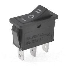 AC15A/250V 20A/125V 3 Pin SPDT ON-OFF-ON 3 Position Snap Rocker Switch K7D4