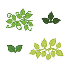 """Heartfelt Creations Cut & Emboss Dies Leafy Accents 1"""" to 4.5"""" 817550021917"""