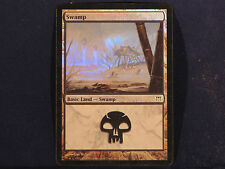 Swamp Basic Land Magic The Gathering Holographic Deckmaster Card