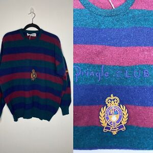 Vintage Pringle of Scotland Club Collection XXL Wool Sweater