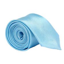New Skinny Slim Tie Solid Color Plain Silk Men Jacquard Woven Party Necktie