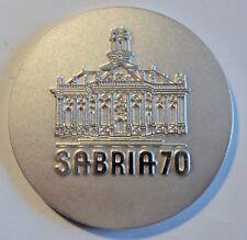 """Saarbrücken 1970 """"SABRIA´70"""" Silber-farbige Medaille - Briefmarken-Ausst."""