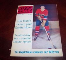 Sport Revue Hockey October 1962  Jean Beliveau   cover   lot # 3
