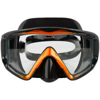 Adventure At Nature Apollo Black/Orange Wide Dive Mask Scuba Diving Snorkeling