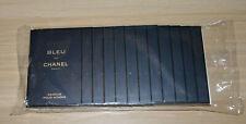 Chanel Bleu de Chanel parfum pour homme sealed pack of 12 samples 12x1.5ml NEW
