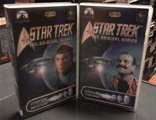 LOTE de 2 VHS STAR TRECK THE ORIGINAL SERIES . Leonar Nimoy William Shatner
